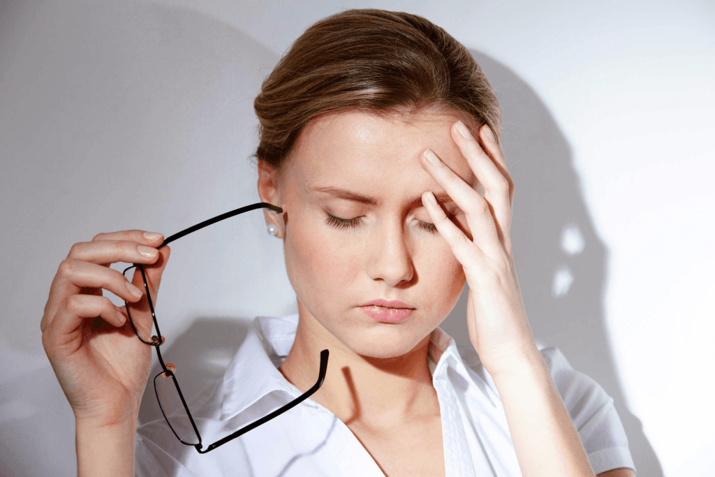Vermoeide uitstraling door stress