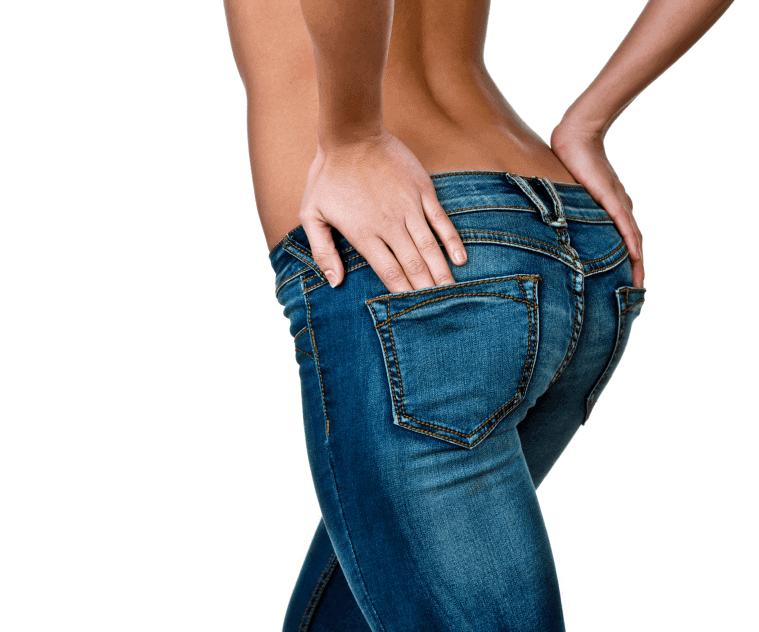 Jeans bij platte billen