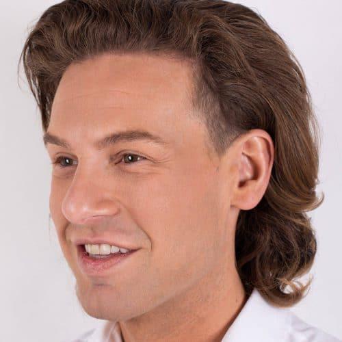 Bjorn van Gool voor zijn injectable-behandeling